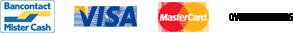 Bancontact - Visa - MasterCard - Overschrijving